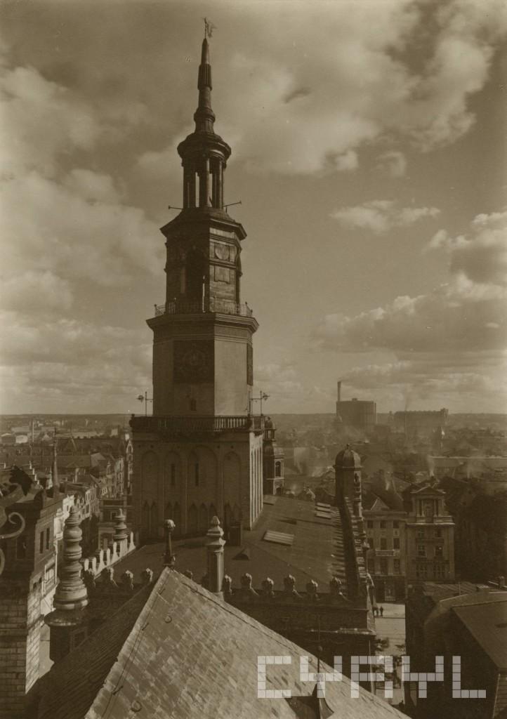 Wieża ratuszowa 1930.