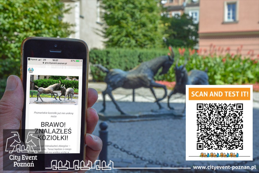Poznań QR code city game