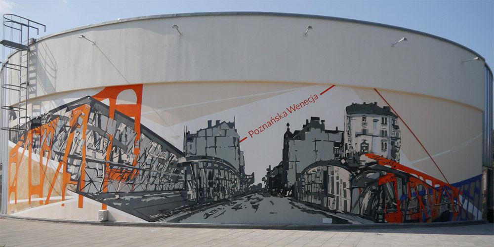 Mural na poznańskim Chwaliszewie